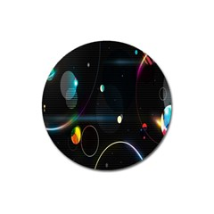 Glare Light Luster Circles Shapes Magnet 3  (Round)