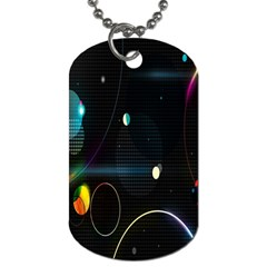 Glare Light Luster Circles Shapes Dog Tag (One Side)