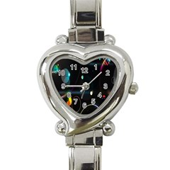 Glare Light Luster Circles Shapes Heart Italian Charm Watch