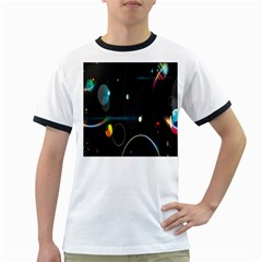Glare Light Luster Circles Shapes Ringer T-Shirts