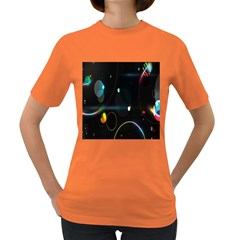 Glare Light Luster Circles Shapes Women s Dark T-Shirt