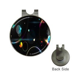 Glare Light Luster Circles Shapes Hat Clips With Golf Markers