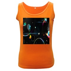 Glare Light Luster Circles Shapes Women s Dark Tank Top