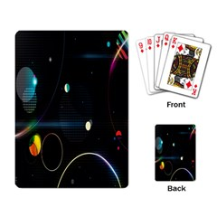 Glare Light Luster Circles Shapes Playing Card