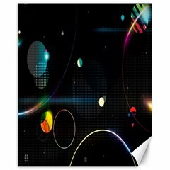Glare Light Luster Circles Shapes Canvas 16  x 20