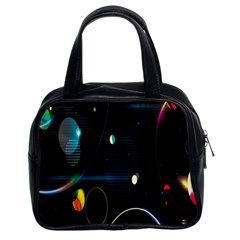 Glare Light Luster Circles Shapes Classic Handbags (2 Sides)