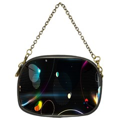 Glare Light Luster Circles Shapes Chain Purses (one Side)