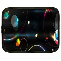 Glare Light Luster Circles Shapes Netbook Case (XL)