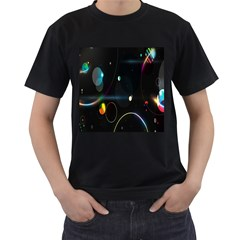 Glare Light Luster Circles Shapes Men s T-Shirt (Black)