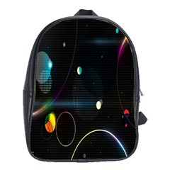 Glare Light Luster Circles Shapes School Bags(large)