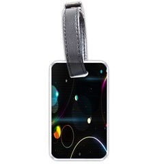 Glare Light Luster Circles Shapes Luggage Tags (Two Sides)