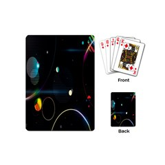 Glare Light Luster Circles Shapes Playing Cards (Mini)