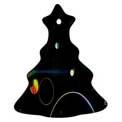 Glare Light Luster Circles Shapes Christmas Tree Ornament (two Sides)