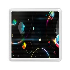 Glare Light Luster Circles Shapes Memory Card Reader (square)