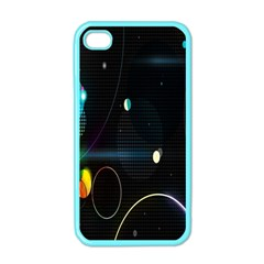 Glare Light Luster Circles Shapes Apple iPhone 4 Case (Color)