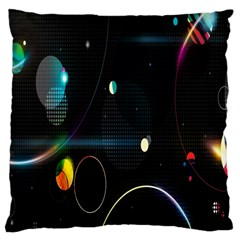 Glare Light Luster Circles Shapes Large Cushion Case (Two Sides)