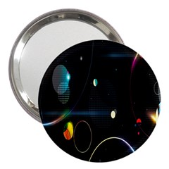 Glare Light Luster Circles Shapes 3  Handbag Mirrors