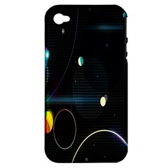 Glare Light Luster Circles Shapes Apple iPhone 4/4S Hardshell Case (PC+Silicone)