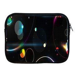 Glare Light Luster Circles Shapes Apple iPad 2/3/4 Zipper Cases