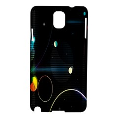 Glare Light Luster Circles Shapes Samsung Galaxy Note 3 N9005 Hardshell Case