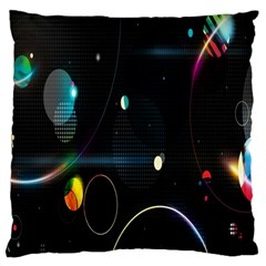 Glare Light Luster Circles Shapes Large Flano Cushion Case (Two Sides)