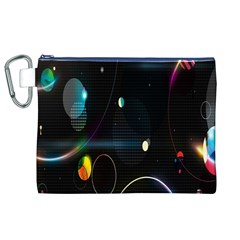 Glare Light Luster Circles Shapes Canvas Cosmetic Bag (XL)