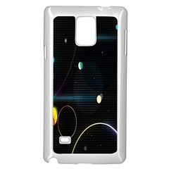 Glare Light Luster Circles Shapes Samsung Galaxy Note 4 Case (White)