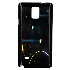 Glare Light Luster Circles Shapes Samsung Galaxy Note 4 Case (Black)