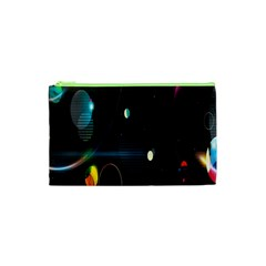 Glare Light Luster Circles Shapes Cosmetic Bag (XS)