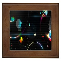 Glare Light Luster Circles Shapes Framed Tiles