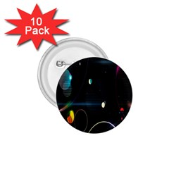 Glare Light Luster Circles Shapes 1.75  Buttons (10 pack)