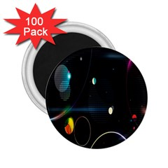 Glare Light Luster Circles Shapes 2.25  Magnets (100 pack)