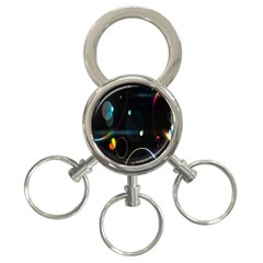 Glare Light Luster Circles Shapes 3 Ring Key Chains