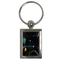 Glare Light Luster Circles Shapes Key Chains (Rectangle)