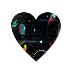Glare Light Luster Circles Shapes Heart Magnet