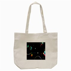 Glare Light Luster Circles Shapes Tote Bag (Cream)