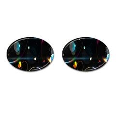 Glare Light Luster Circles Shapes Cufflinks (Oval)