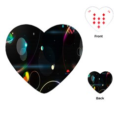 Glare Light Luster Circles Shapes Playing Cards (Heart)