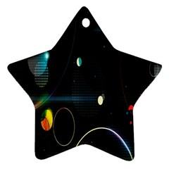 Glare Light Luster Circles Shapes Star Ornament (Two Sides)