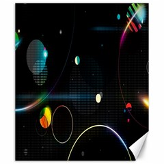 Glare Light Luster Circles Shapes Canvas 20  X 24