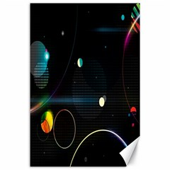 Glare Light Luster Circles Shapes Canvas 24  x 36