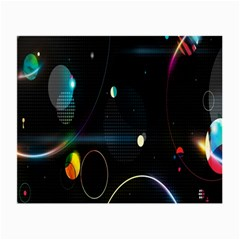 Glare Light Luster Circles Shapes Small Glasses Cloth (2 Side)