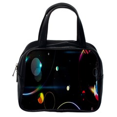 Glare Light Luster Circles Shapes Classic Handbags (one Side)