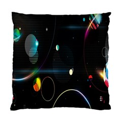 Glare Light Luster Circles Shapes Standard Cushion Case (one Side)