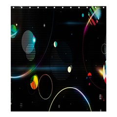 Glare Light Luster Circles Shapes Shower Curtain 66  X 72  (large)