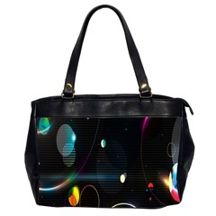 Glare Light Luster Circles Shapes Office Handbags (2 Sides)