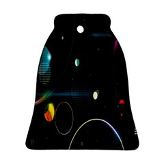 Glare Light Luster Circles Shapes Bell Ornament (two Sides)