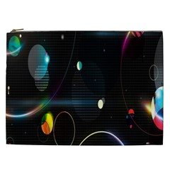 Glare Light Luster Circles Shapes Cosmetic Bag (XXL)