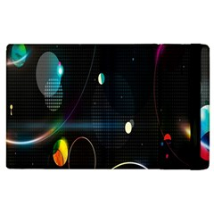Glare Light Luster Circles Shapes Apple iPad 3/4 Flip Case