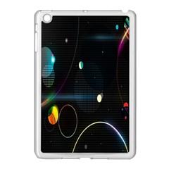 Glare Light Luster Circles Shapes Apple iPad Mini Case (White)